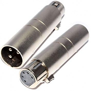 5 (f) to 3 (m) Pin DMX solid Adapter   - Hire