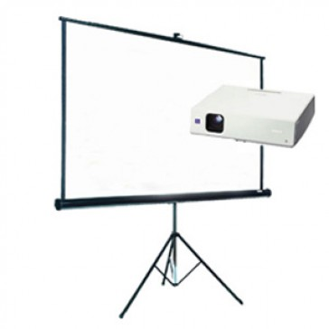 Tripod Screen with Data Projector Hire (2.4 x 2.4m)