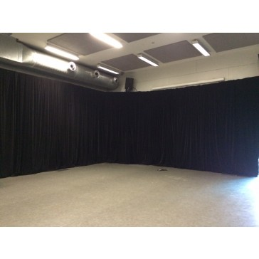 black drape 6m X 3m-Hire