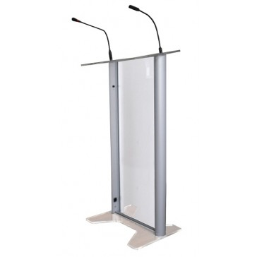 Glass lectern hire