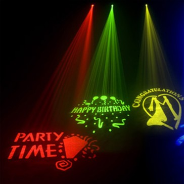 Gobo lighting hire