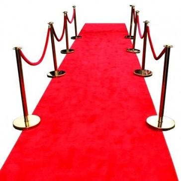 Red Carpet Runner with Bollards