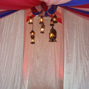 White Draping 3m  by 6m - Hire