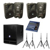 Large Party Audio System with Sub