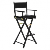 tall black director chair