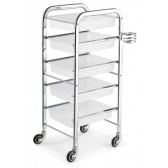 """Satin"" White Makeup Trolley (5 Trays)"