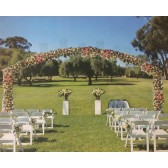 Wedding Archway 7m x 3m high white - Hire