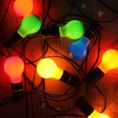 Festoon Mixed Colored Globes 20m Hire