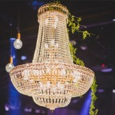 Chandelier-Golden Basket Medium-Hire