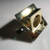 Gold Square Light Fitting