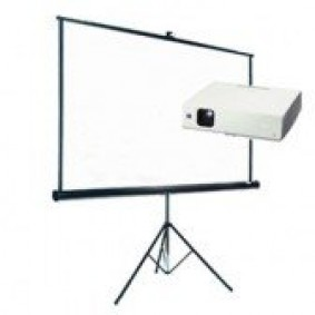 Video projector and screen package hire