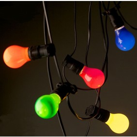 Coloured Festoon Globes