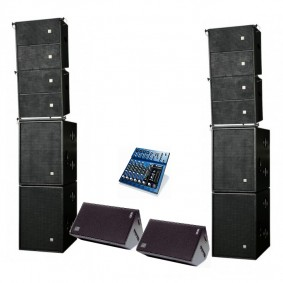HK Contour Array and Nexo PS15 Fold Back DJ System Hire