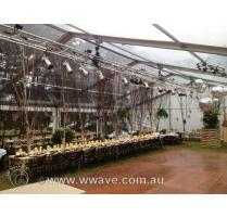 Wash lighting mirror ball hire wedding
