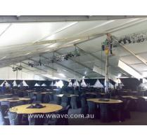 Marquee lighting par can set up