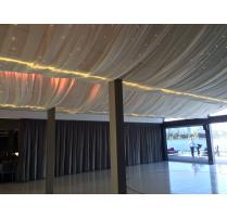 Chiffon draping fairy lighting hire