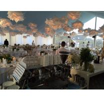 White festoon dropper cloud lantern hire