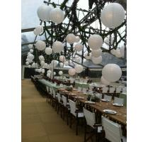 White chinese lanterns festoon dropper jighting hire